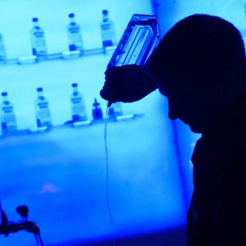 Silhouette of Bartender